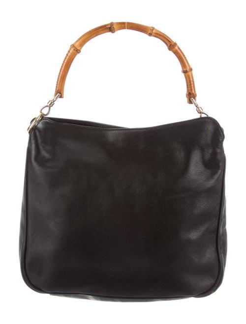 Gucci Vintage Leather Bamboo Bag Black