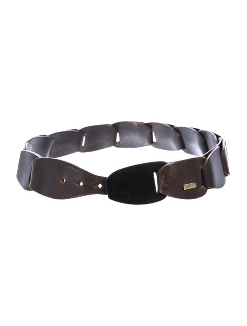 Gucci Vintage Leather Belt Brown