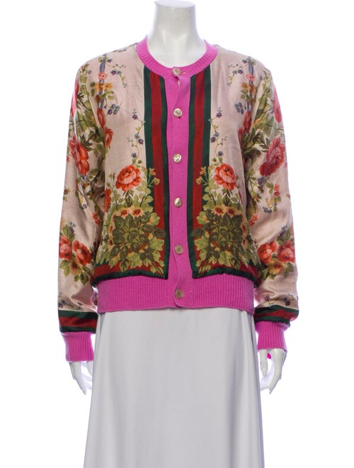 Gucci Silk Floral Print Sweater