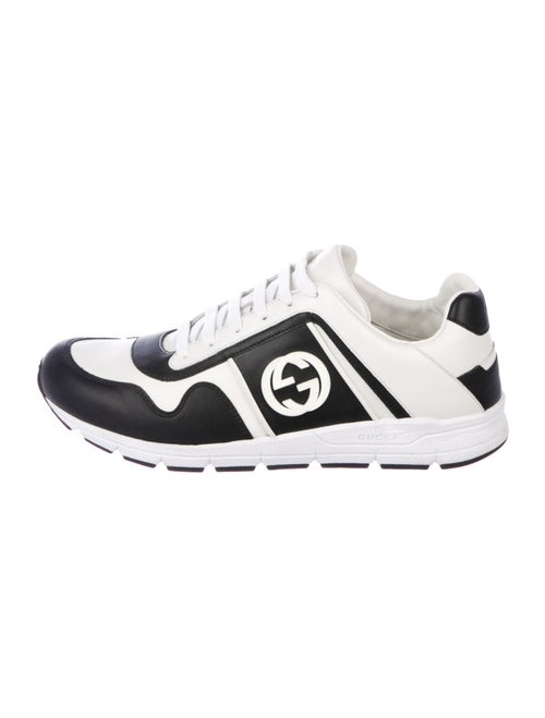 Gucci Leather Printed Sneakers White