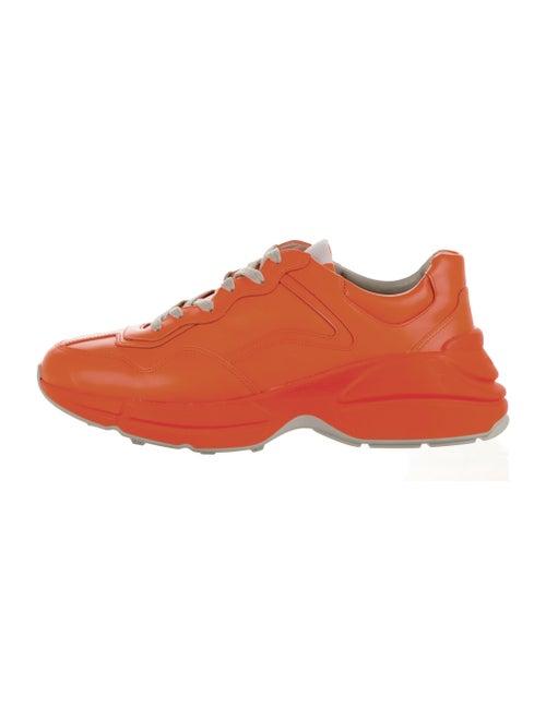 Gucci Rhyton Low 'Orange Fluorescent' Sneakers Ora