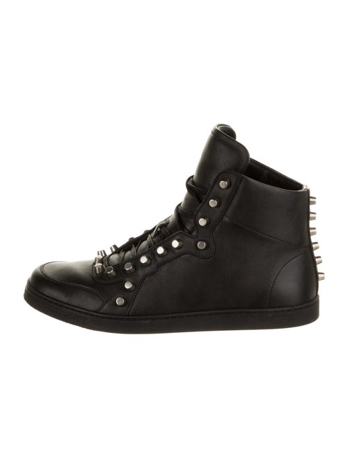Gucci Leather Studded Accents Sneakers Black
