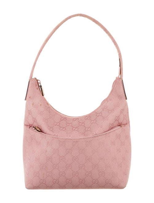 Gucci GG Canvas Shoulder Bag Pink