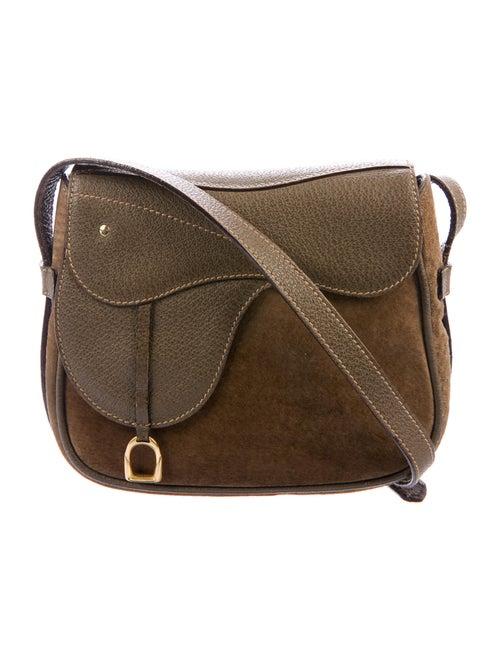 Gucci Vintage Convertible Saddle Bag Brown