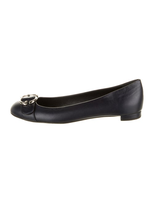 Gucci Leather Ballet Flats Blue