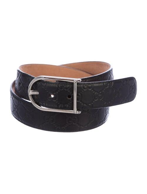 Gucci Signature GG Leather Belt black