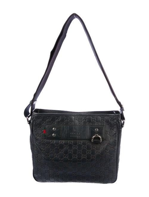 Gucci Signature Messenger Bag Black