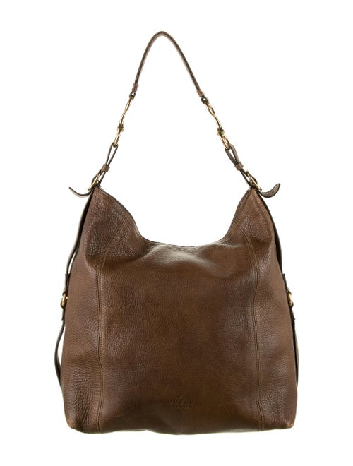 Gucci Large Leather Harness Hobo Brown
