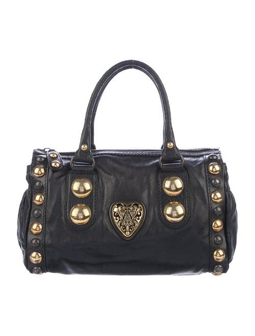 Gucci Leather Babouska Shoulder Bag Black