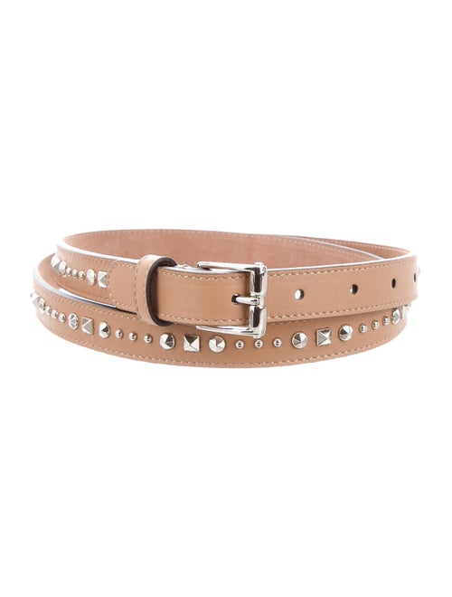 Gucci Studded Leather Belt Tan