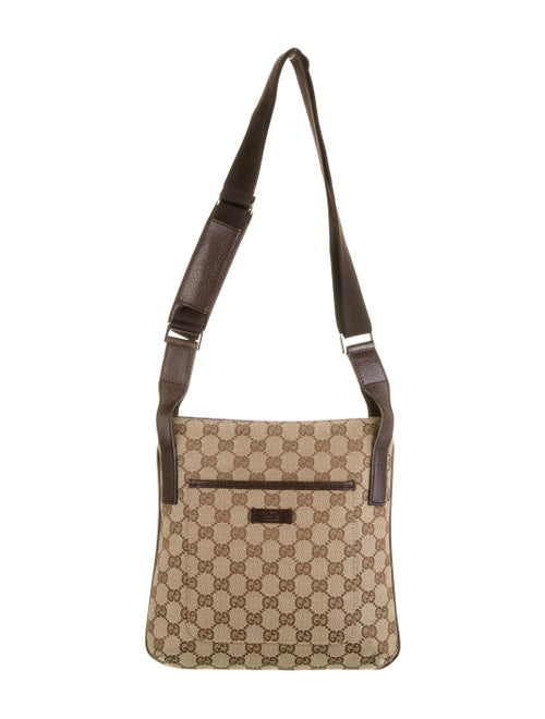 Gucci GG Canvas Messenger Bag tan