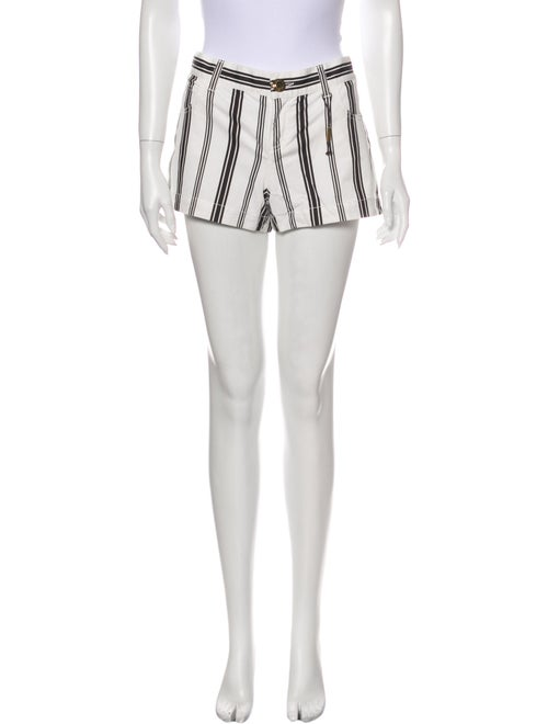 Gucci Striped Mini Shorts White