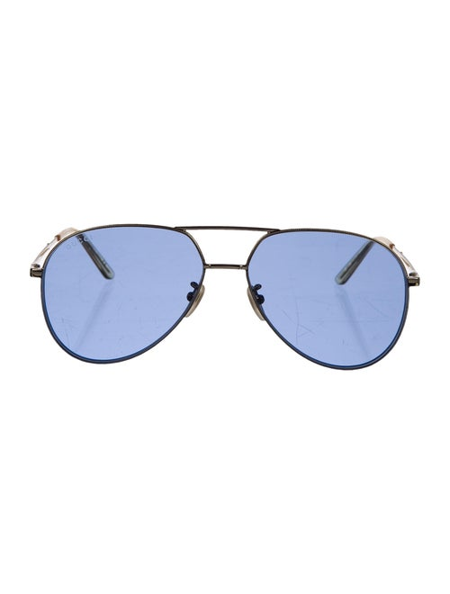 Gucci Aviator Tinted Sunglasses Gold