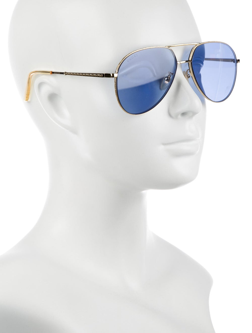 Gucci Aviator Tinted Sunglasses Gold - image 4