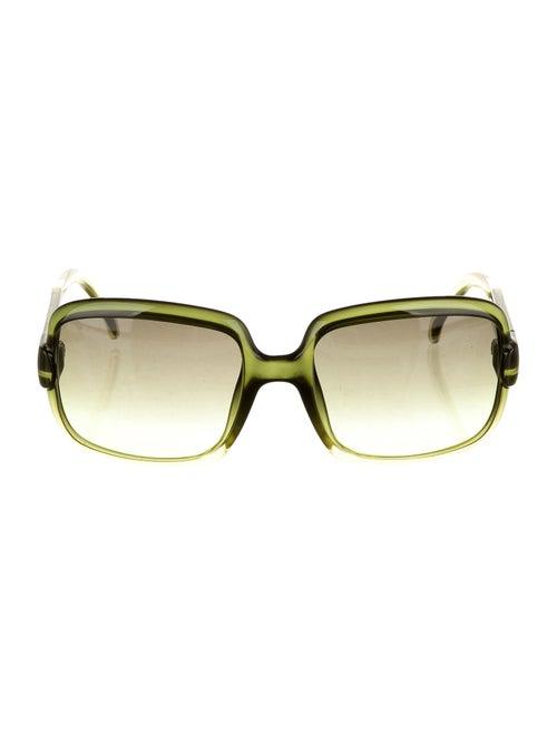 Gucci Gradient Square Sunglasses Green