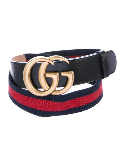 Gucci GG Web Canvas Belt Navy