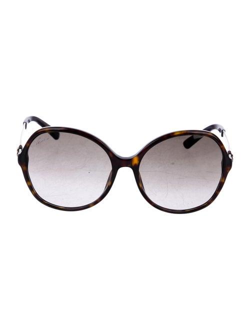 Gucci GG Web Round Sunglasses gold