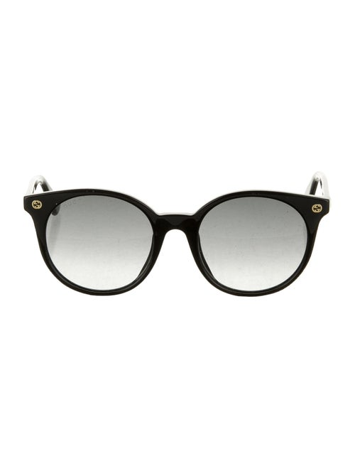 Gucci Tinted Round Sunglasses Black