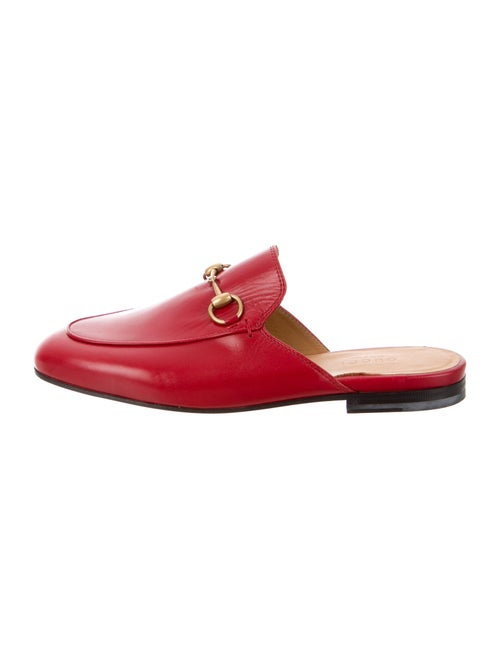Gucci Princetown Horsebit Accent Mules Red