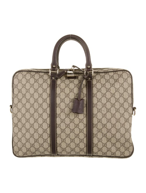 Gucci GG Supreme Top Handle Bag Beige