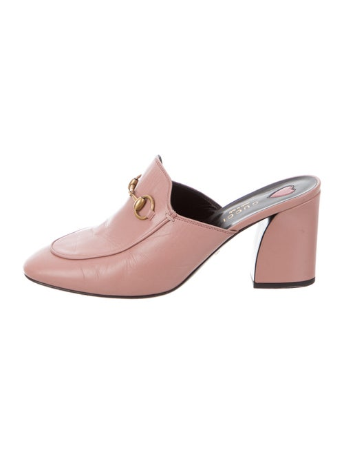 Gucci 1955 Horsebit Accent Leather Mules Pink
