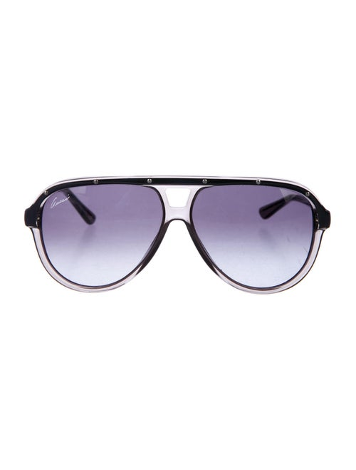 Gucci Studded Aviator Sunglasses transparent