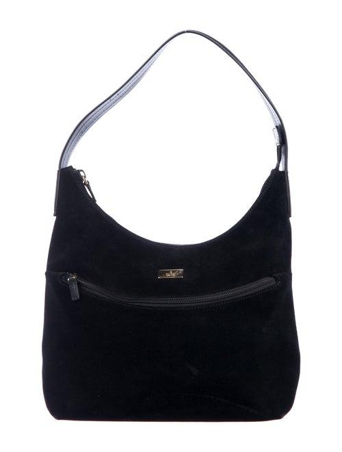 Gucci Vintage Suede Shoulder Bag Black