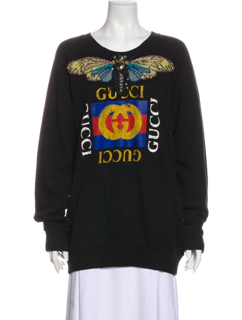 Gucci 2017 Graphic Print Sweatshirt Black