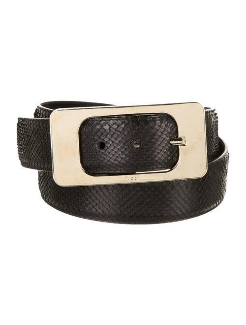 Gucci Snakeskin Hip Belt Black