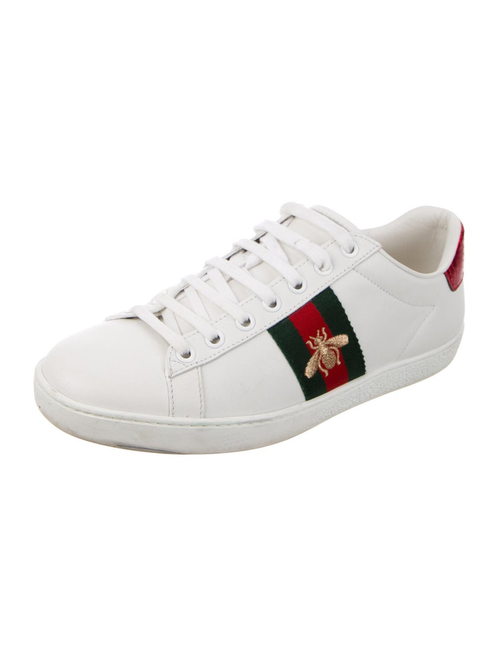 Gucci Leather Sneakers White - image 2