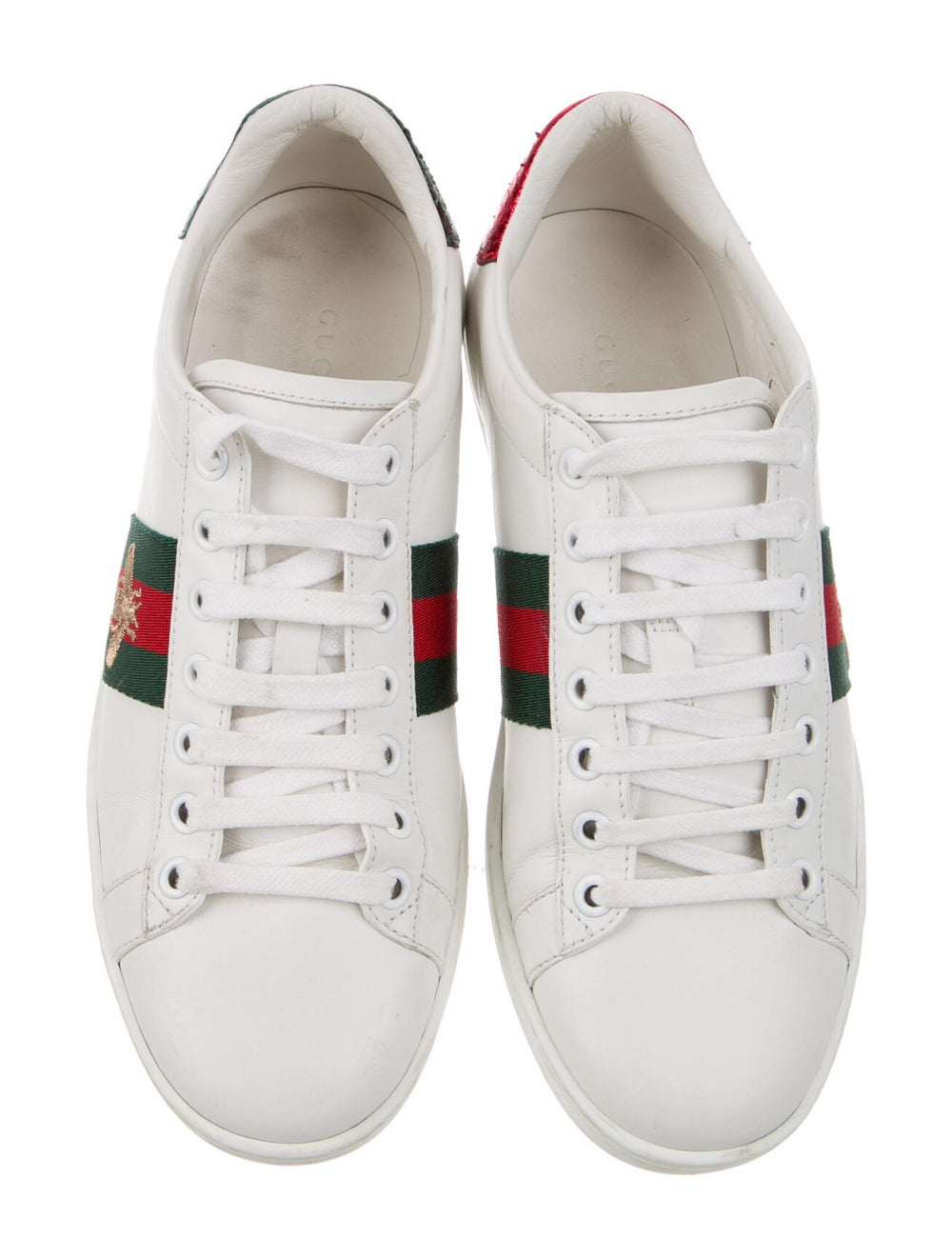 Gucci Leather Sneakers White - image 3
