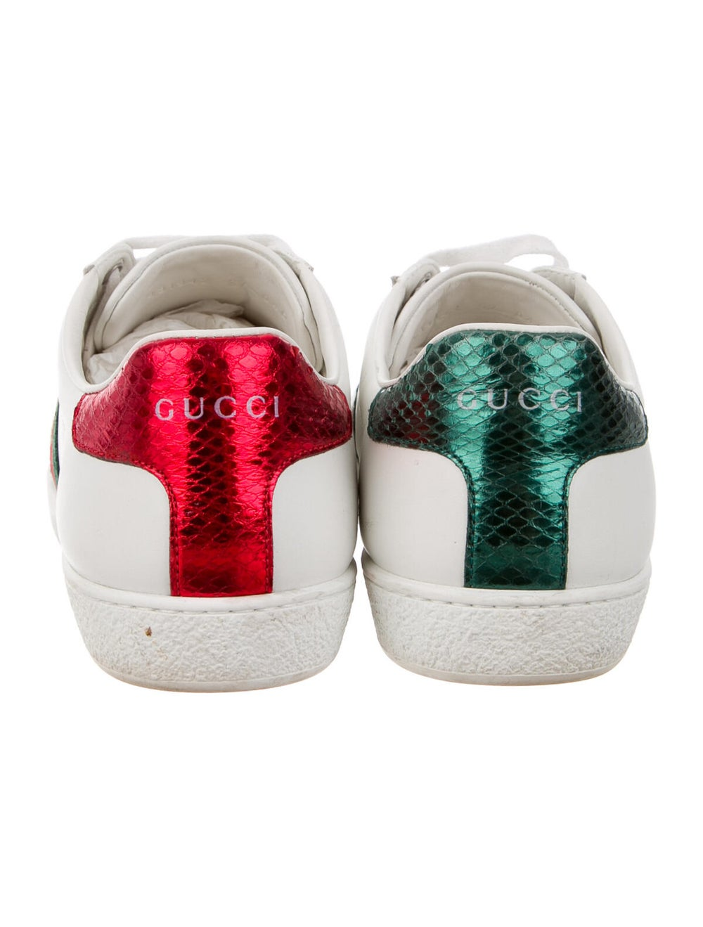 Gucci Leather Sneakers White - image 4