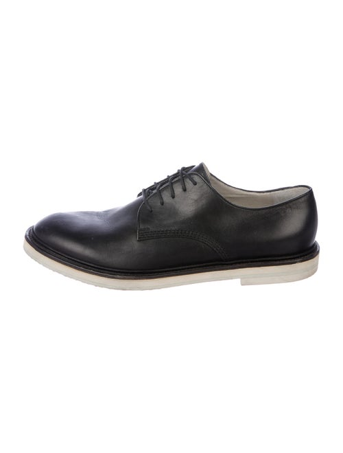 Gucci Leather Derby Shoes Black