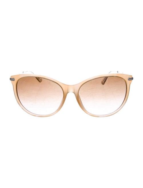 Gucci Round Gradient Sunglasses Tan
