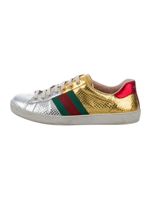 Gucci Ace Metallic Sneakers Metallic