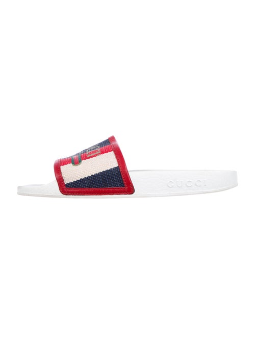Gucci Printed Slides Red
