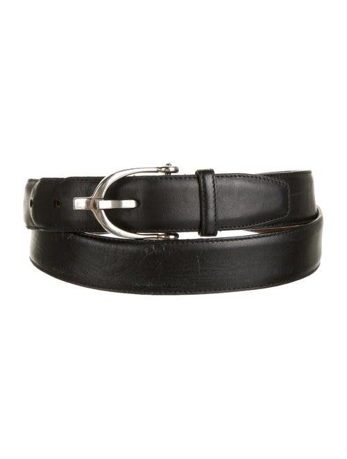 Gucci Leather Stirrup Belt black