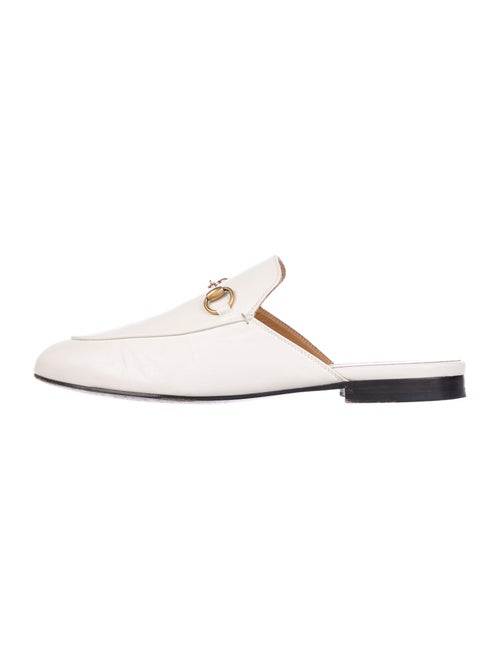 Gucci 1955 Horsebit Accent Leather Mules White