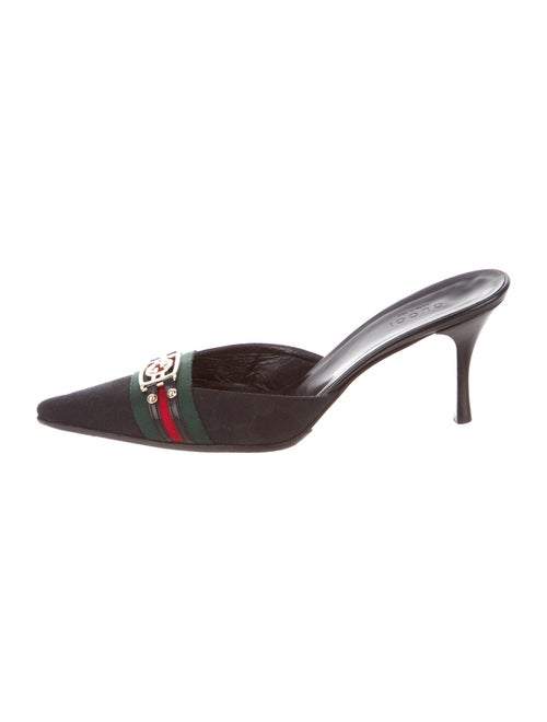 Gucci GG Canvas Mules Black