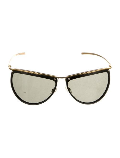 Gucci Tinted Aviator Sunglasses Gold