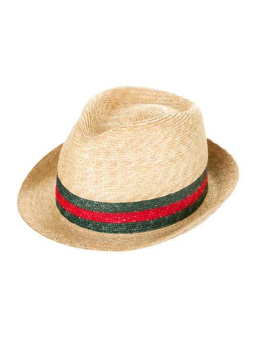 Gucci Web Fedora Hat Tan
