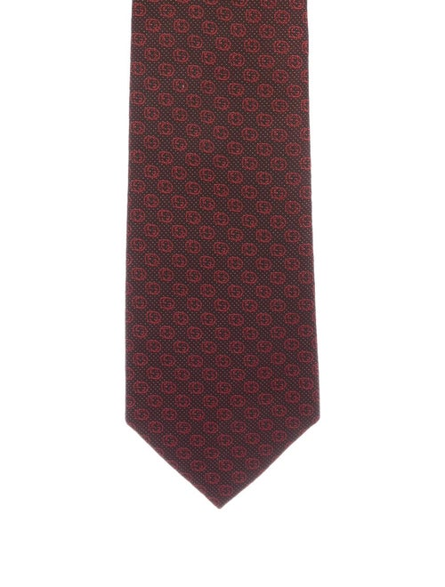 Gucci GG Silk Tie red