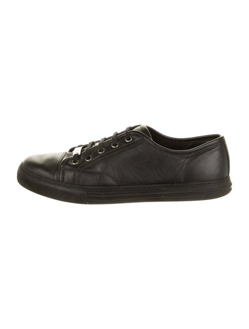 Gucci Vintage Leather Sneakers Black