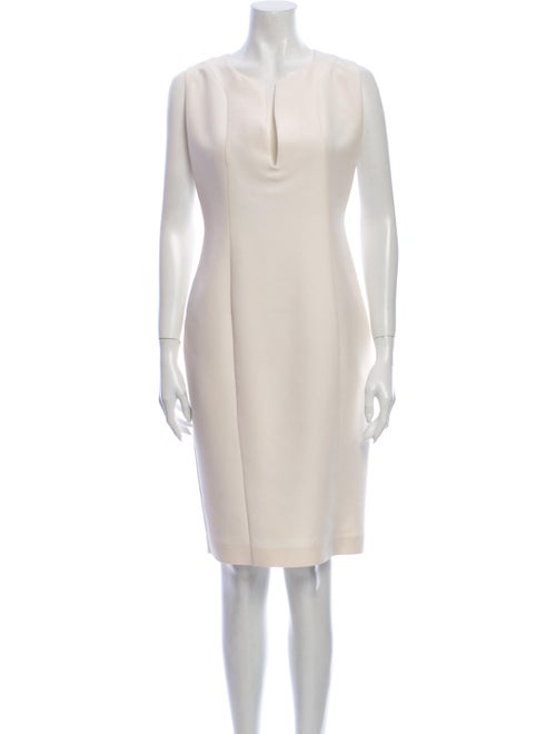 Gucci Silk Knee-Length Dress White