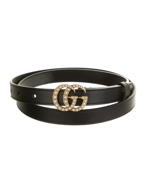 Gucci Skinny Marmont Belt Black