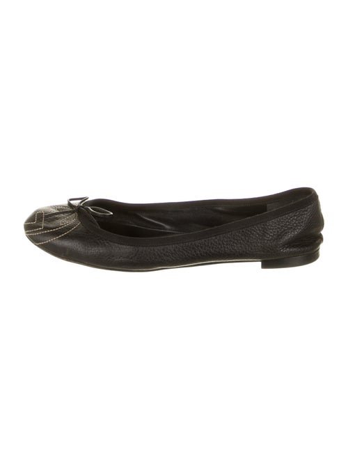 Gucci Leather Ballet Flats Black