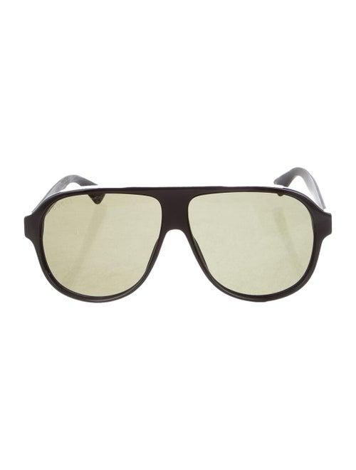 Gucci Web Aviator Sunglasses Black