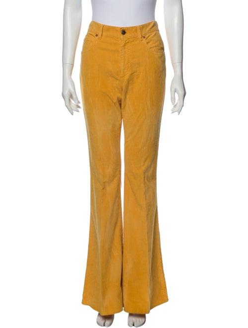 Gucci Wide Leg Pants Yellow