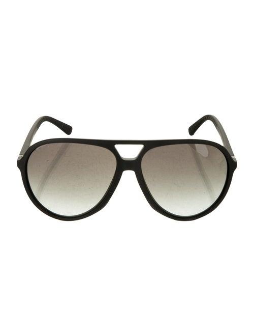 Gucci Tinted Aviator Sunglasses Black