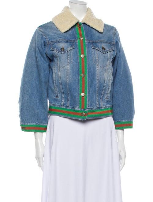 Gucci Striped Denim Jacket Denim
